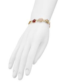 Tory Burch - Heart, Ladybug & Acorn Charm Adjustable Bracelet