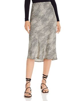 Re:Named - Animal-Print Midi Skirt
