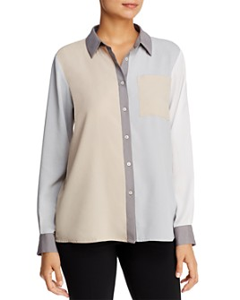 Calvin Klein - Color-Block Blouse