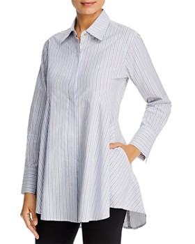 Donna Karan - Icon Striped Tunic Blouse