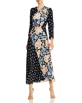 Rebecca Taylor - Mixed-Print Floral Maxi Dress
