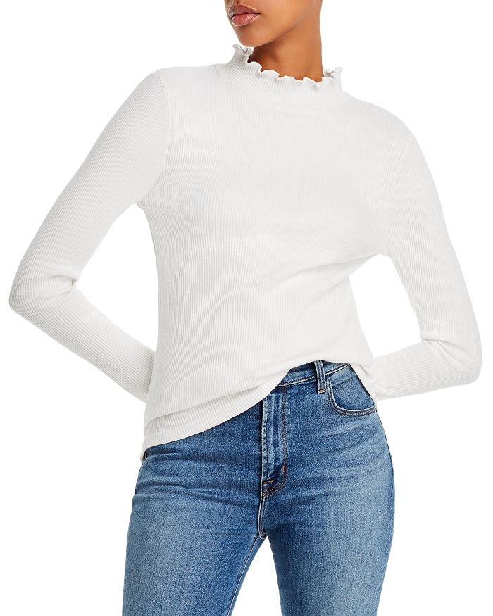 Lost and Wander - Morengo Ribbed Mock-Neck Top