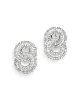 Bloomingdale's - Diamond Interlocking Circle Drop Earrings in 14K White Gold, 2.5 ct. t.w. - 100% Exclusive