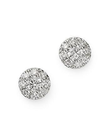 Bloomingdale's - Cluster Diamond Stud Earrings in 14K White Gold, 0.33 ct. t.w. - 100% Exclusive