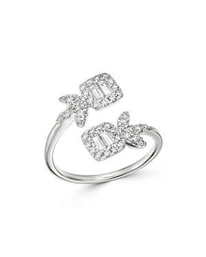 Bloomingdale's Diamond Bypass Ring in 14K White Gold, 0.60 ct. t.w. - 100% Exclusive