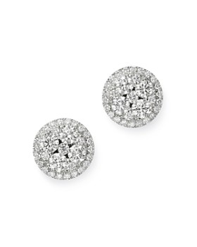 Bloomingdale's - Cluster Diamond Statement Stud Earrings in 14K White Gold, 1.5 ct. t.w. - 100% Exclusive