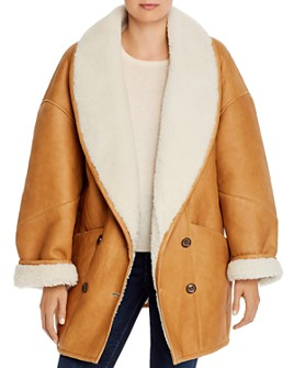 FRAME - Shearling Cocoon Coat