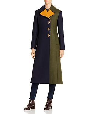 Tory Burch Coats COLOR-BLOCKED LONG COAT