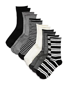Ralph Lauren - Ribbed Double Striped Socks, Set of 6