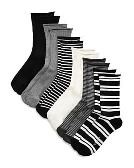Ralph Lauren - Ribbed Double Striped Socks, Set of 6