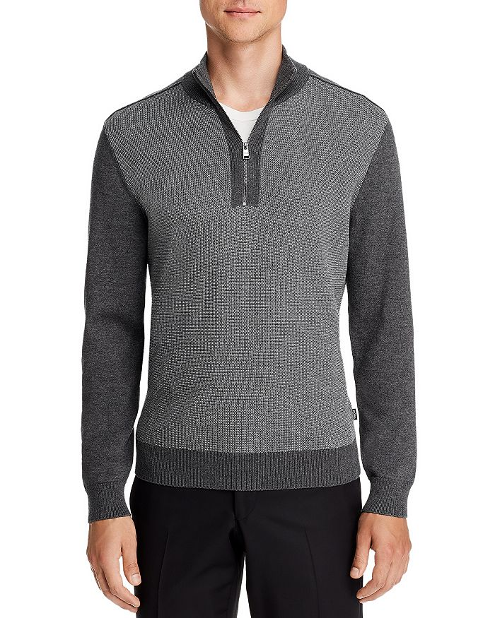 BOSS - Bagatti Quarter-Zip Sweater - 100% Exclusive
