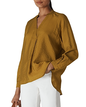 Whistles Tops DYLAN LONG-SLEEVE V-NECK TOP