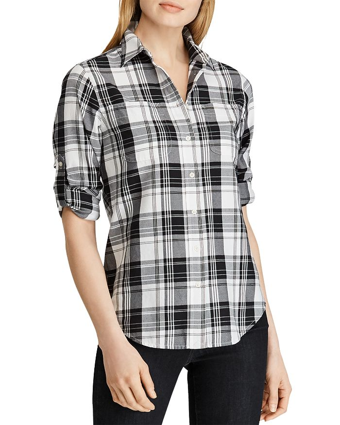Ralph Lauren - Plaid Roll-Sleeve Shirt
