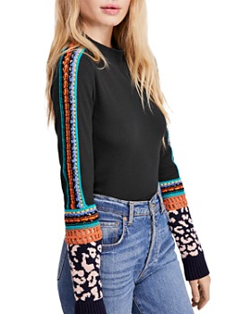 Free People - Switch It Up Crochet-Trim Thermal Top
