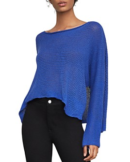 BCBGMAXAZRIA - High/Low Boatneck Sweater