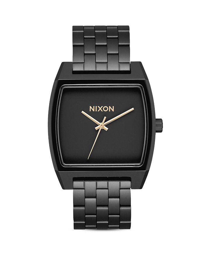 Watch Links Nixon Purple: Nixon Men's Time Tracker Black Stainless Steel Bracelet