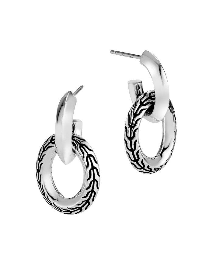 Clic Chain Double Hoop Earrings