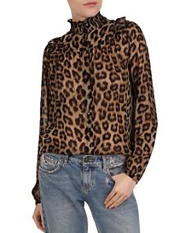 ba&sh - Frida Reversible Leopard Print Top