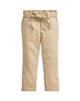 Ralph Lauren - Girls' Belted Paperbag Pants - Little Kid