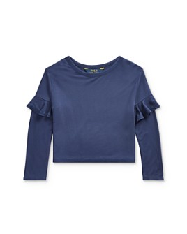 Ralph Lauren - Girls' Ruffle-Trim Top - Little Kid