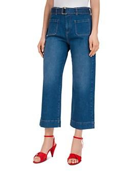 Gerard Darel - Lauryne High-Rise Cropped Wide-Leg Jeans in Blue