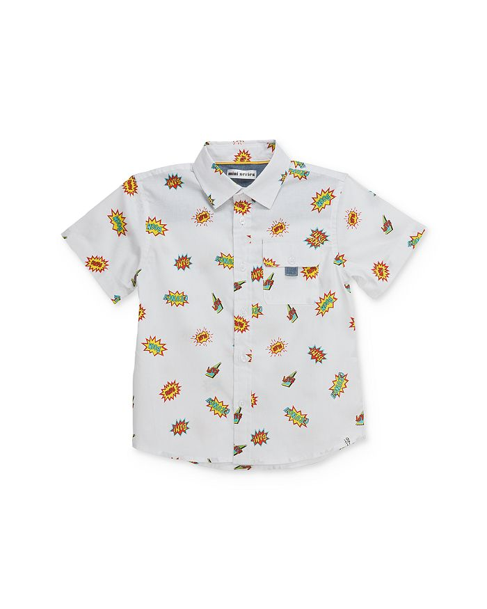 Mini Series - Boys' Comic Camp Shirt, Little Kid - 100% Exclusive