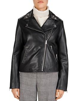 Gerard Darel - Nathan Studded Leather Biker Jacket