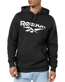 Reebok - Diagonal Logo Hooded Sweatshirt