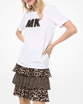 MICHAEL Michael Kors - Embellished Logo Cotton Tee