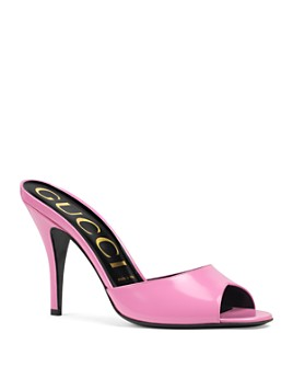 Gucci - Women's High-Heel Slide Sandals