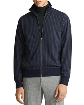 Polo Ralph Lauren - Double-Knit Pinstriped Zip Jacket - 100% Exclusive