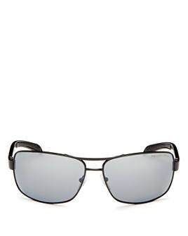 Prada - Men's Polarized Brow Bar Aviator Sunglasses, 65mm