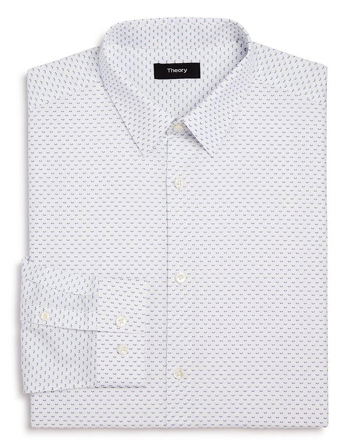 Theory - Cedrick Chevron Print Slim Fit Dress Shirt