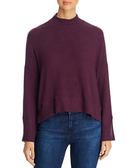 Red Haute - Mock-Neck Cropped Sweater