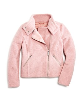 AQUA - Girls' Sherpa Moto Jacket, Big Kid - 100% Exclusive