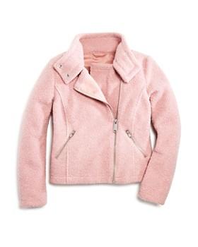 AQUA - Girls' Sherpa Moto Jacket, Big Kid - 100% Exclusive