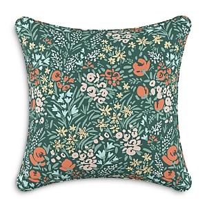 Sparrow & Wren Down Pillow in Camelia Green, 20 x 20