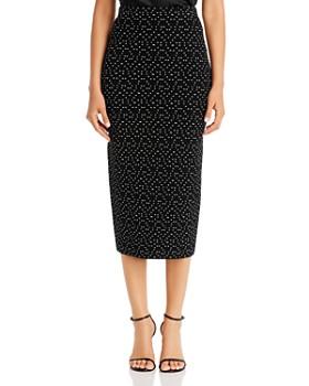 Armani - Textured Midi Pencil Skirt