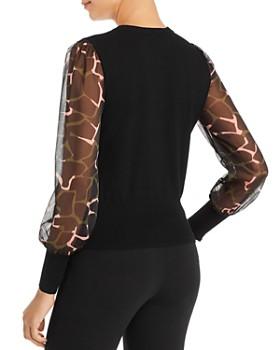 Armani - Sheer-Sleeve Knit Top
