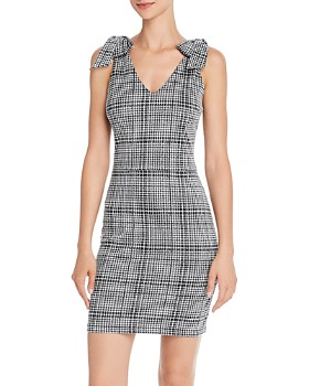 AQUA - Bow Detail Plaid Dress - 100% Exclusive