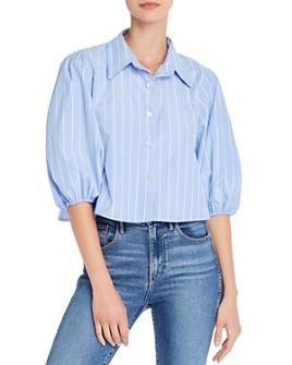 AQUA - Cropped Striped Shirt - 100% Exclusive