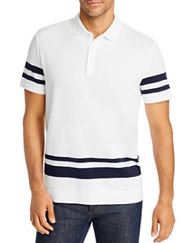 Michael Kors - Engineered Stripe-Trimmed Classic Fit Polo Shirt