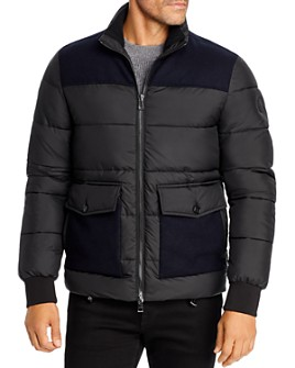 Michael Kors - Heavy Mixed-Media Puffer Jacket