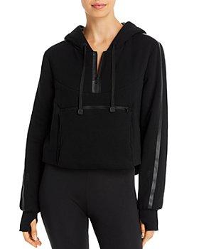 Blanc Noir - Packable Cropped Hooded Sweatshirt