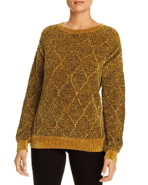 T Tahari Chenille Cable-Knit Sweater