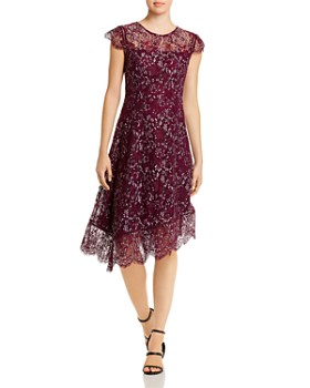 Donna Karan - Asymmetric Hem Lace Dress