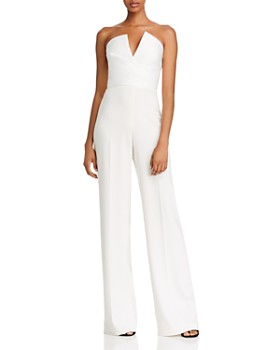 Jay Godfrey - Dawson Notched Strapless Jumpsuit