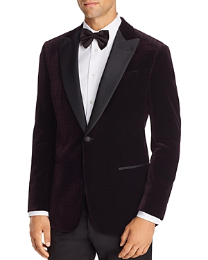 Armani Collezioni Jackets EMPORIO ARMANI VELVET REGULAR FIT TUXEDO JACKET