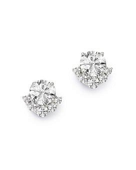 Bloomingdale's - Diamond 6-Stone Stud Earrings in 14K White Gold, 1.0 ct. t.w. - 100% Exclusive