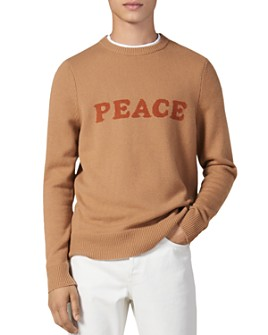 Sandro - Peace Wool & Cashmere Crewneck Sweater